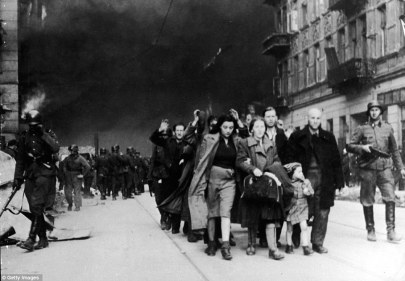 Rounded up: The Uprising began on April 19, 1943, led by a less than 1,000 Jewish resistance fighters, but was crushed by Hitler less than a month later