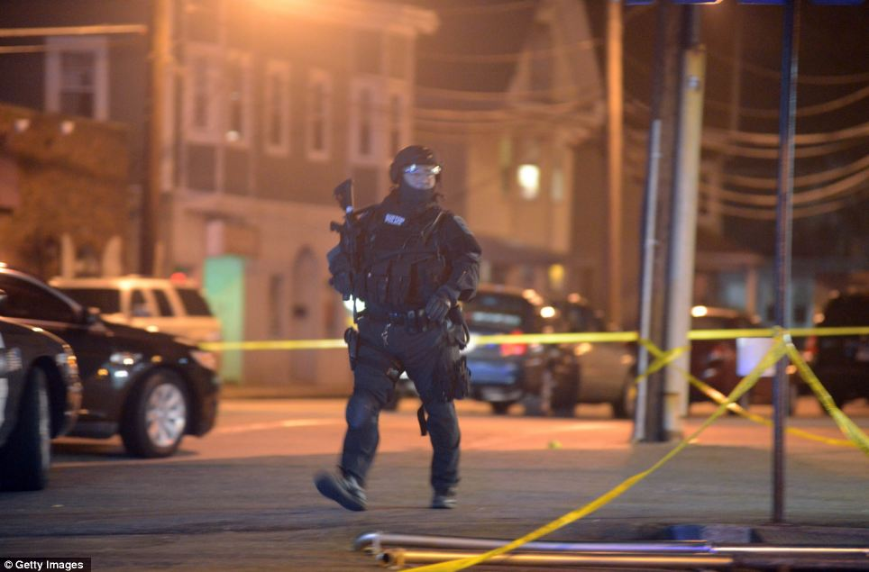 Link: It's not clear whether the incident which unfolded tonight is related to the Boston bombing on Monday