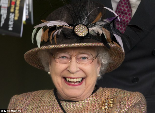 I can't believe it! The joyful realisation of victory sets in for Queen Elizabeth II