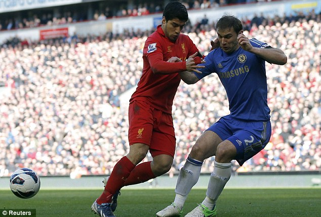 Rivals: Chelsea were seconds from an impressive win at Anfield