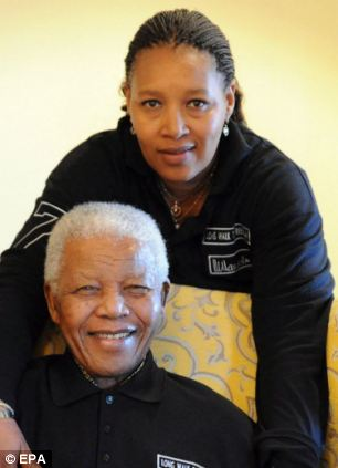 Zenani Mandela pictured with her father Nelson