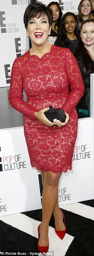 Kopy-kat: The matriarch wore a similar frock to the one her daughter wore last week