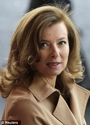 Hollande's mistress, Valerie Trierweiler, who is involved in a lawsuit over claims in a book that she had an adulterous affair with Hollande and another married man while she herself was married