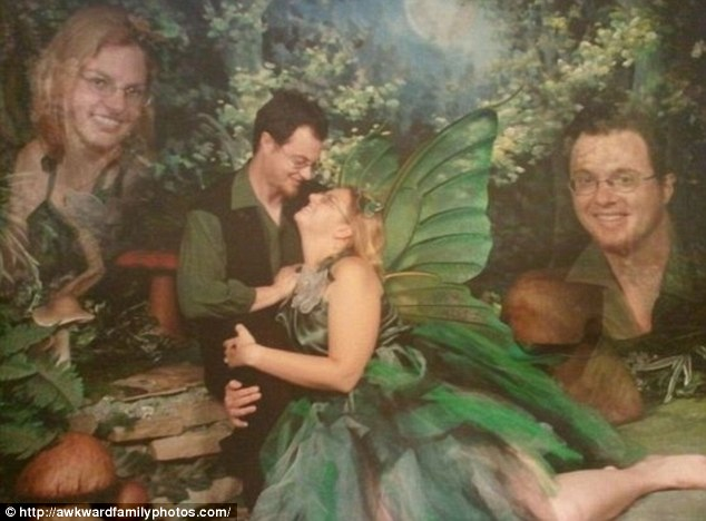 A leafy woodland was the perfect setting for this newly-engaged pair who posed as wood nymphs