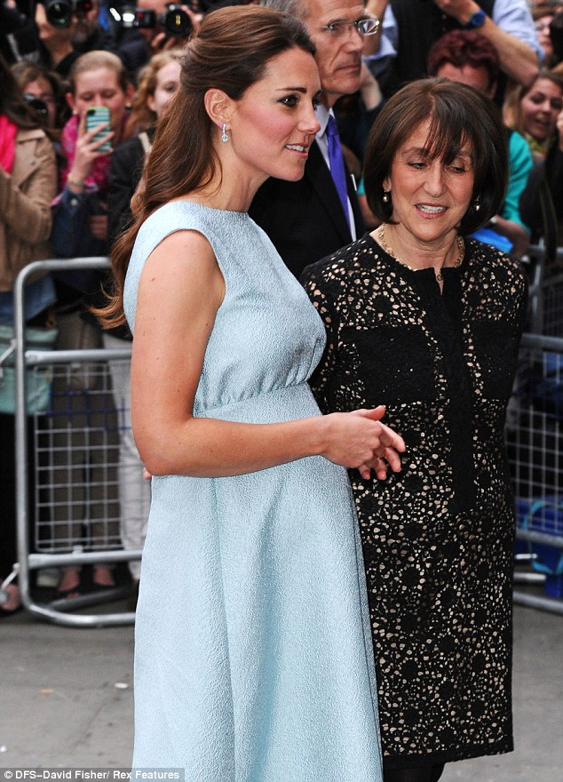 Busy mum-to-be: This is the third public engagement Kate has carried out this week
