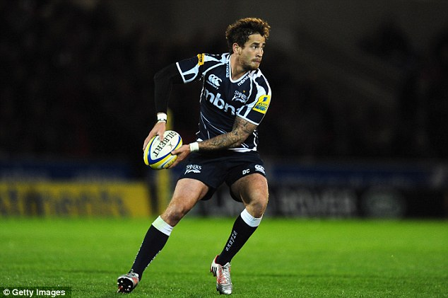 Scare: Sale's Danny Cipriani was hit by a bus in Leeds and taken to hospital