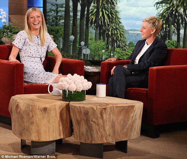 'Humiliating': Gwyneth Paltrow spoke about her revealing red carpet dress during an interview on Ellen DeGeneres' chat show, set to air in the US on Friday