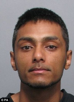 Sex offender: Suran Uddin was jailed for 15 years for the abduction and sexual assault of a vulnerable 13-year-old he found on the streets of London along with two other men