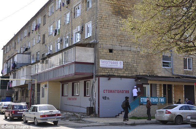 Tip off: Officials now say they had been warned about possible ties Zubeidat Tsarnaev had with terrorism (pictured, the home of Anzor Tsarnaev, in Dagestan)