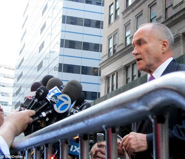 Mystery: Commissioner Kelly (pictured) told reporters a rope was wrapped around the gear and that aspect of the find would be investigated