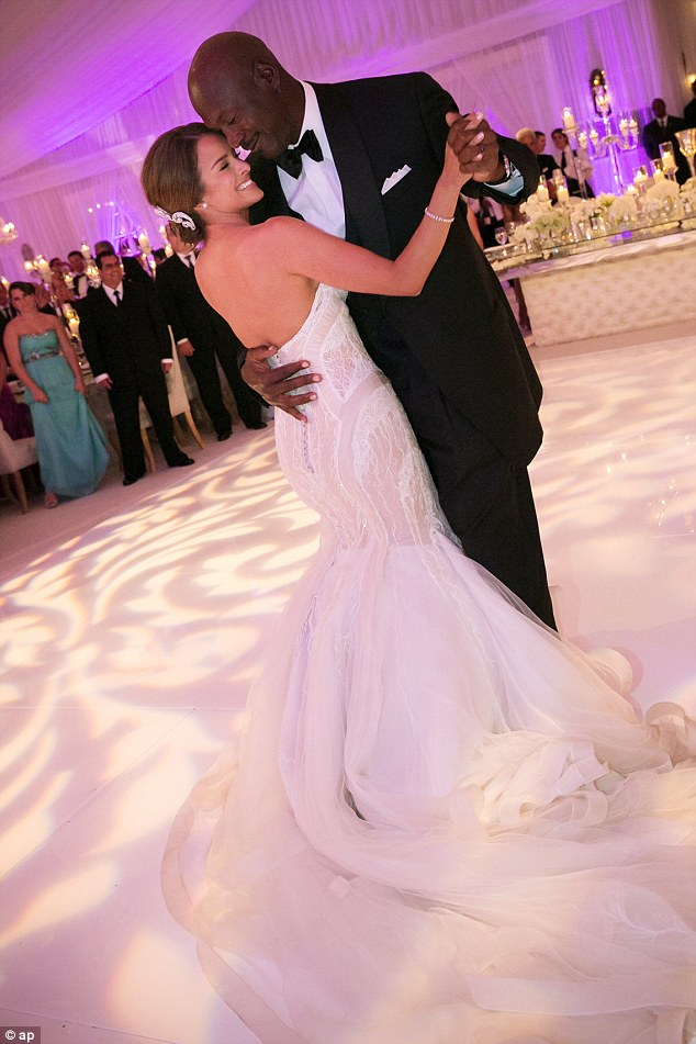 Always and forever: The newlyweds took their first spin around the dance floor as married couple