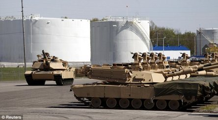 New tech: The upgraded tanks cost about $7.5million each, according to the Army