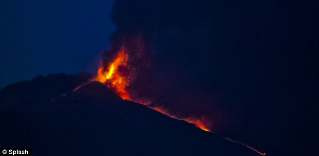 Experts said the eruption was 'very spectacular' but said local towns and residents were not at risk