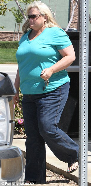 Reconnected: Paris Hilton was seen enjoying lunch with her biological mother Debbie Rowe on Sunday in California