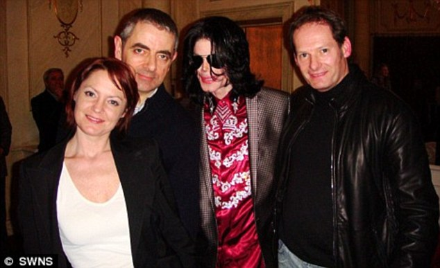 Close friends: Michael was friends with Mark (far right) right up until his death in 2009