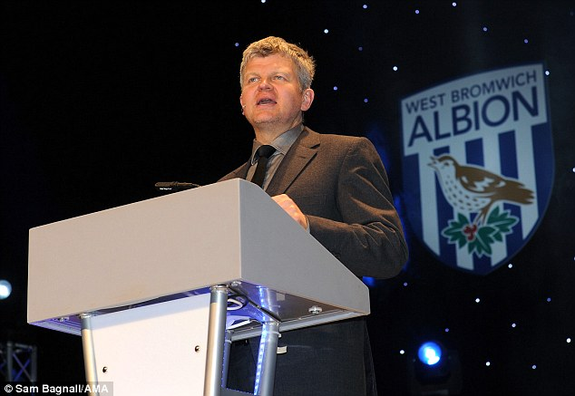 Insult: Baggies fan Adrian Chiles caused a stir by branding Peter Odemwingie 't*** of the year'