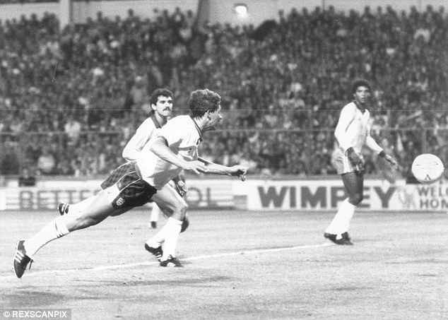 Lethal: Gary Lineker found the net time and again for England and a number of clubs