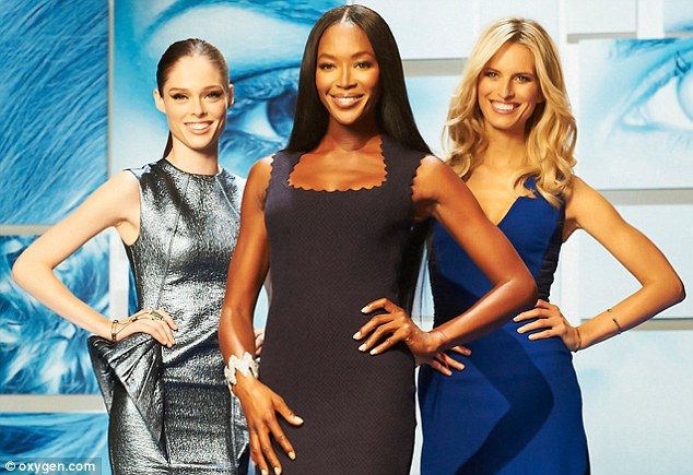 Busy bee: Naomi has been busy with commitments including The Face with Karolina Kurkova and Coco Rocha