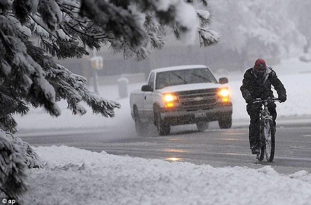 Winter returns: A strong storm system has pulled unseasonably cold air into the area creating a freakishly late winter storm