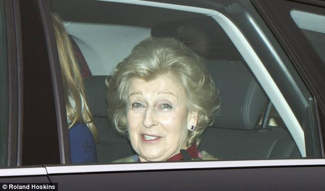 Struck down: Princess Alexandra, pictured in December, had to cancel an engagement in Southport
