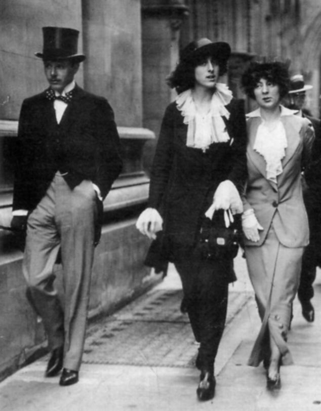 Defying convention: Vita Sackville-West, centre, with husband Harold Nicolson and lover Rosamund Grosvenor