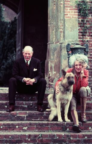 Unconventional: Vita and Harold at home in Kent in 1960