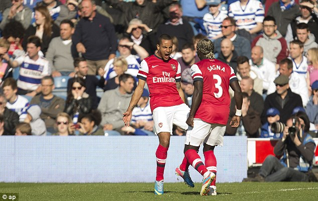 Best season yet: Theo Walcott scored inside the opening minute in Arsenal's win at QPR on Saturday