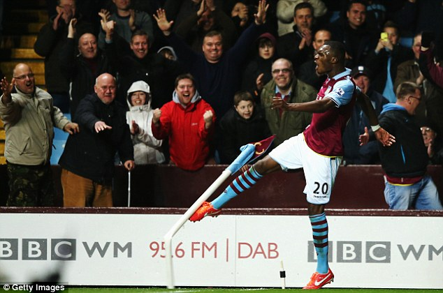 Alive and kicking: Christian Benteke's goals could well prove the difference between Aston Villa staying up or going down