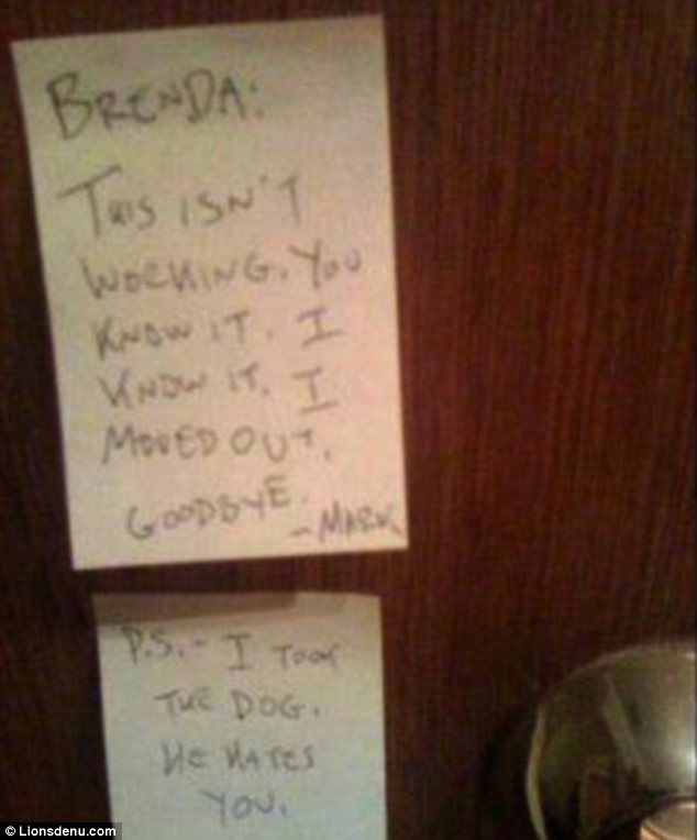 Funniest Ways To Dump Your Partner By Letter Im Having