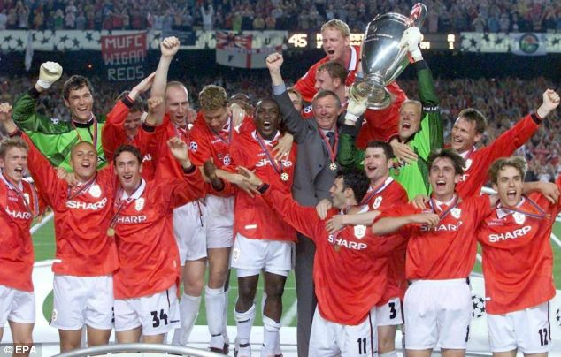 Finest hour: Manchester United secured a treble of Champions League, Premier League and FA Cup in 1999