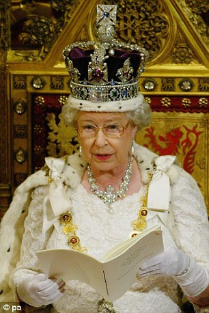 The Queen gives her speech to Parliament in 2003