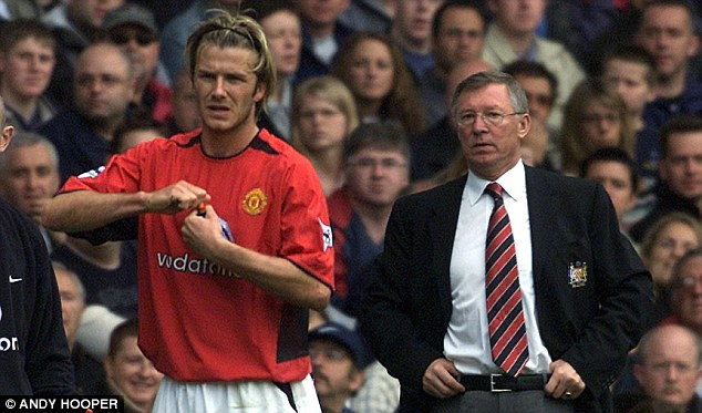 Father figure: David Beckham hailed the influence Sir Alex Ferguson has had on his career