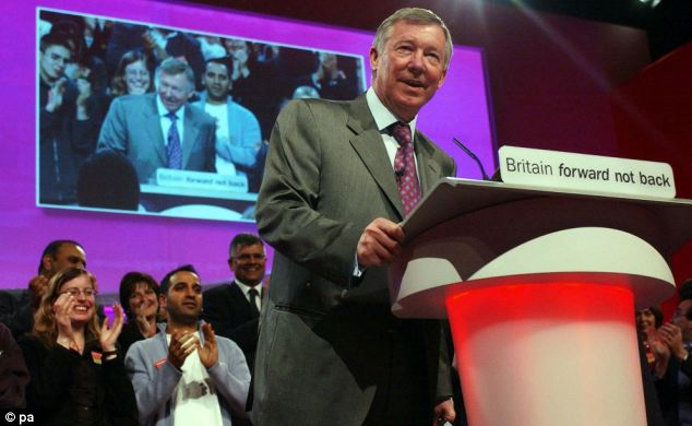 Peerage? Sir Alex Ferguson delivers an enthusiastic endorsement of Tony Blair's premiership in 2005