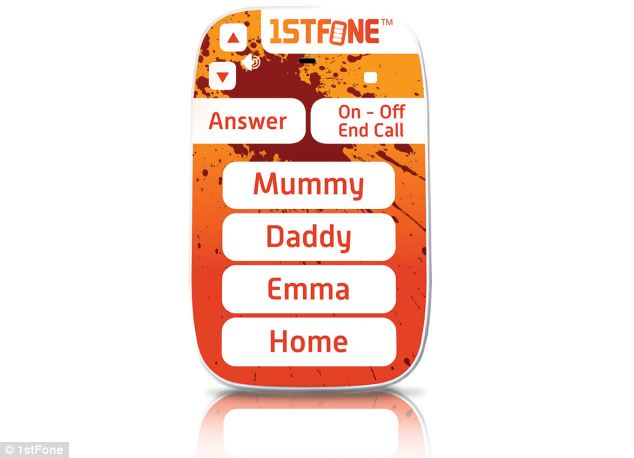 The 1stFone, from manufacturer OwnFone, has been specifically designed for four to nine-year-olds. It doesn't have a screen.
