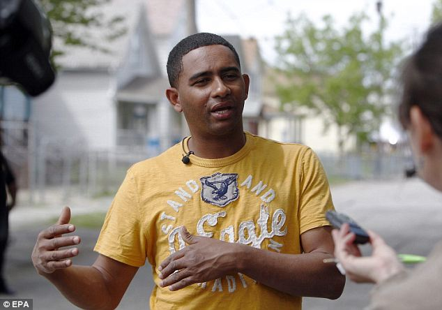 New face: Cordero said that he was sitting on a neighbor's porch when he heard a commotion coming from Ariel Castro's house, and then he saw a hand waving out the door