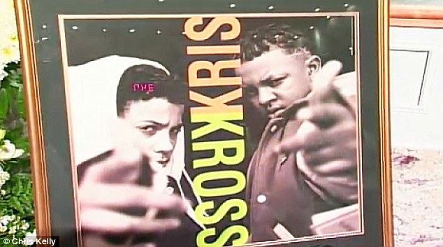 Celebrating his achievements: The ceremony also featured pieces of Kris Kross memorabilia