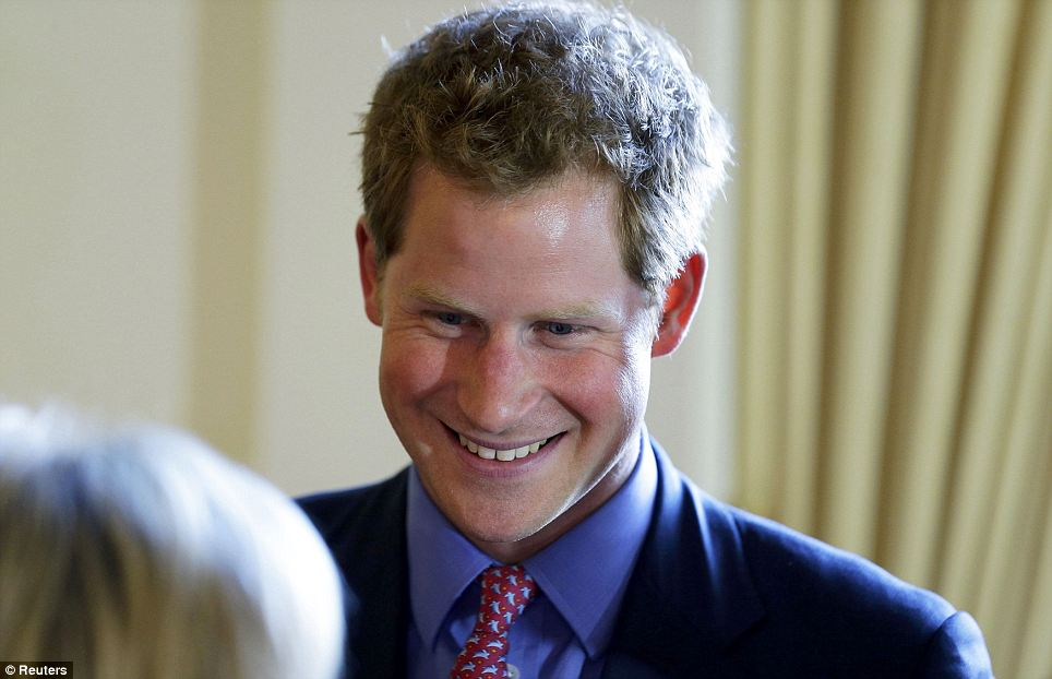 Evening activities: Prince Harry then attended a reception at the British Ambassador's residence where a number of wealthy donors to the anti-landmine charity attended as well as policy makers