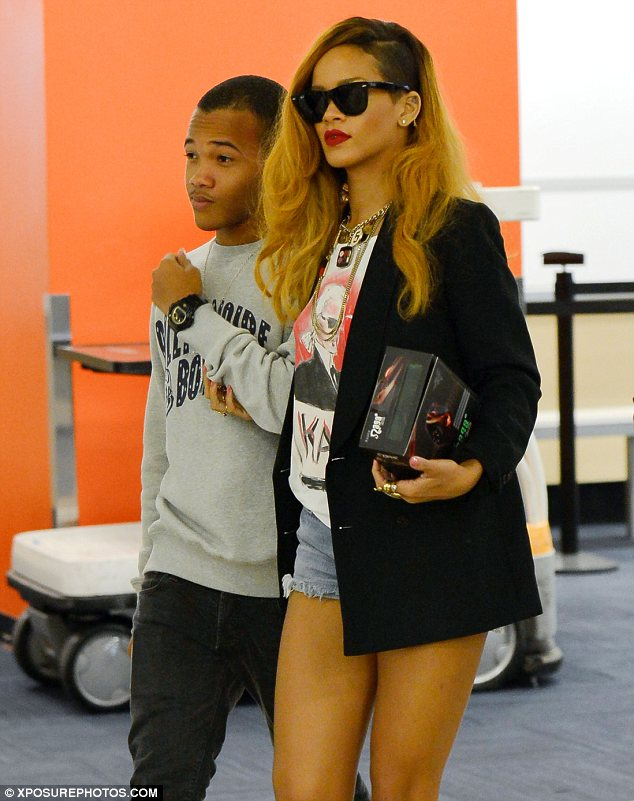 He's her number one guy: Rihanna enjoyed a late night shopping trip with her brother Rajad Fenty on Wednesday
