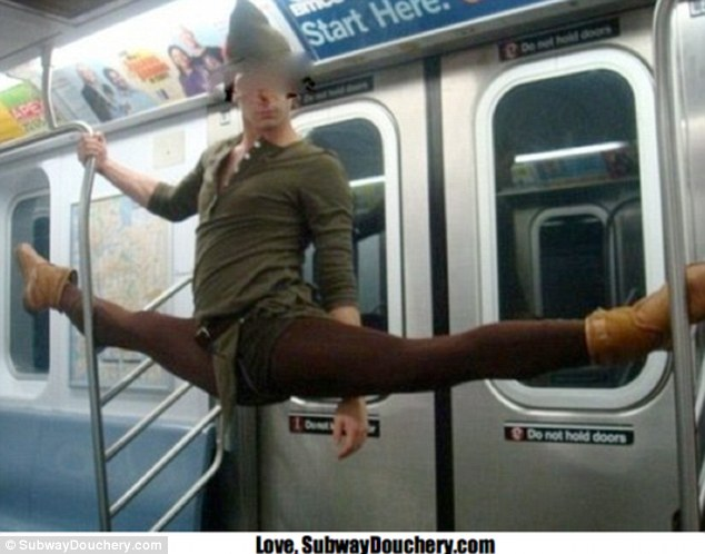 Grow up, Peter Pan: This flexible passenger couldn't resist showing off for the camera