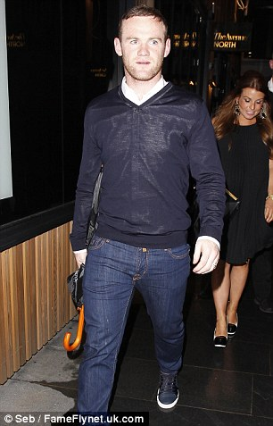 Leaving party? Rooney looks to be on his way