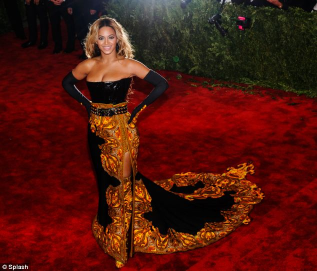A pear-shape is typified by the small waists and shapely bottom of the likes of Beyonce, pictured