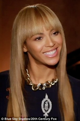 Bringing her to life: Beyoncé revealed that voicing a character in an animated film has been a lifelong dream of hers