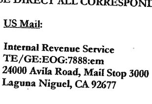 IRS Laguna Niguel office