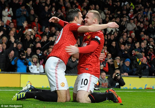 Trading places? Could Robin van Persie and Rooney face one another next season?