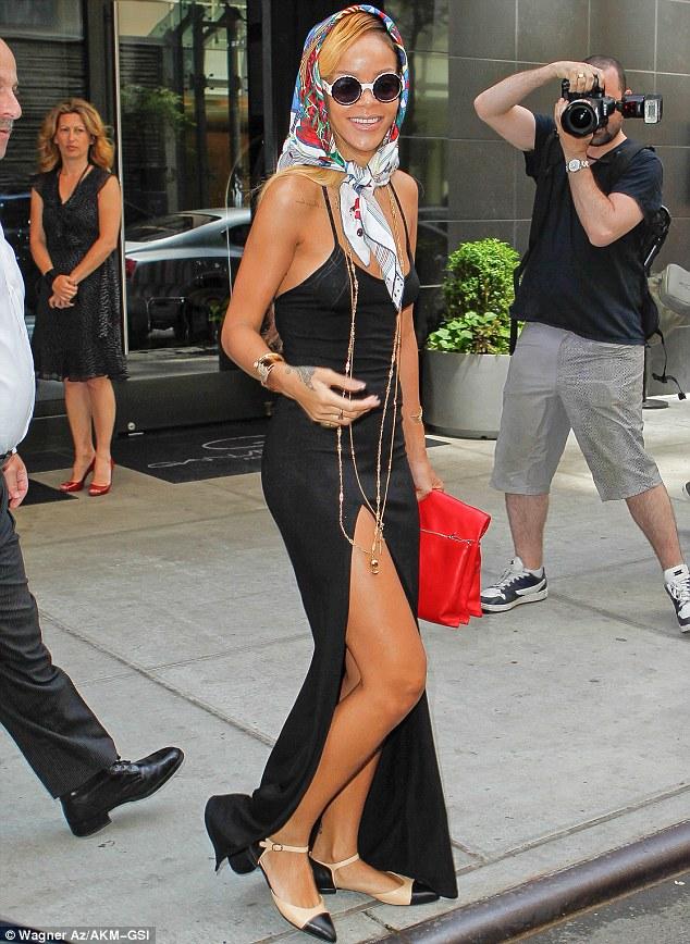 Rihanna Throws On Demure Silk Headscarf But Cant Resist