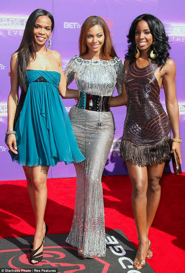 Successful trio: As Destiny's Child, Kelly, Beyonce and Michelle stormed the music charts and sold millions of records around the world