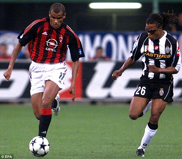 Accolade: Rivaldo (left) was part of AC Milan's Champions League-winning squad in 2003