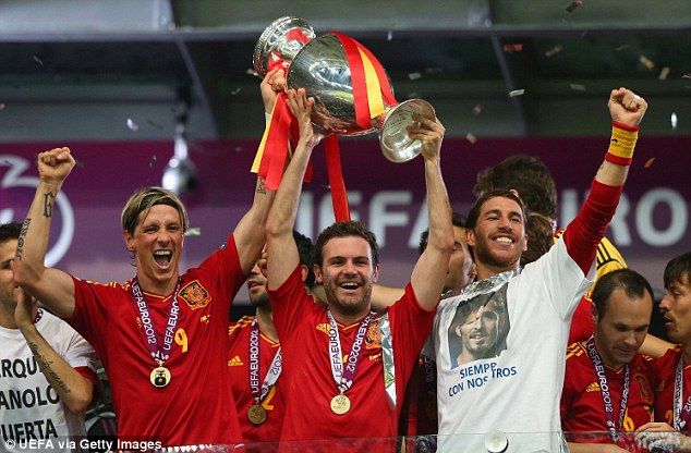 Peerless: Torres and his Spain team-mates celebrated another European Championships in 2012