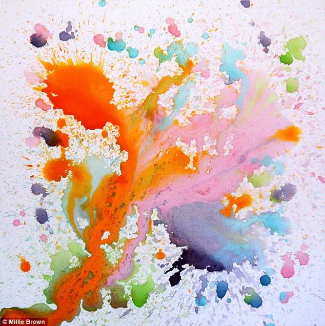 Millie's work has been likened to Jackson Pollock