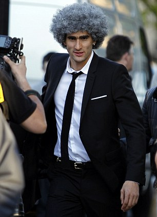 Marouane Fellaini Has Hair Dyed Silver Daily Mail Online